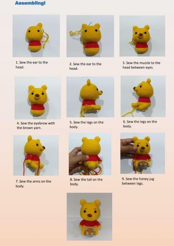 Crochet Winnie the pooh Amigurumi Pattern (3)