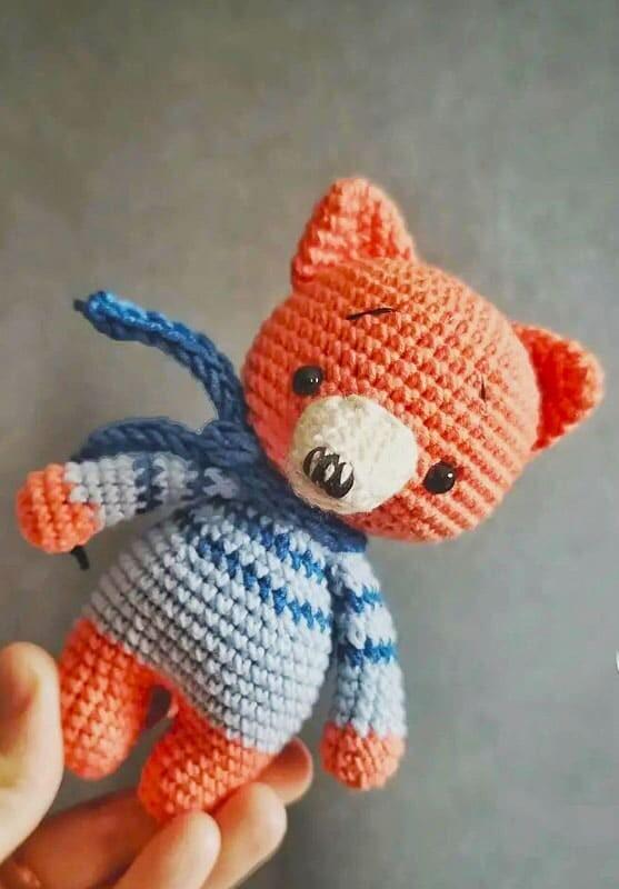 Cute Little Crochet Fox Amigurumi Free Pattern (2)
