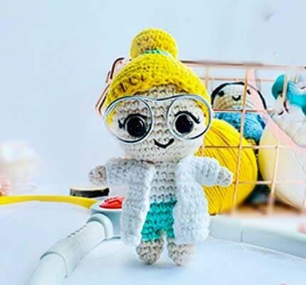 Dr. Rose Crochet Amigurumi Free Pattern