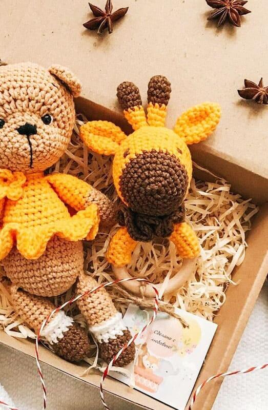 Giraffe Rattle Amigurumi Crochet Pattern (6)