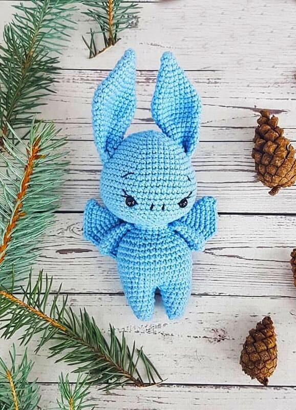 Cute Bat Amigurumi Crochet Free Pattern