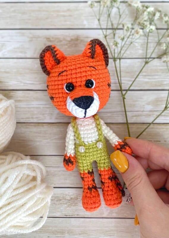 Little Tiger Amigurumi Crochet Pattern (2)