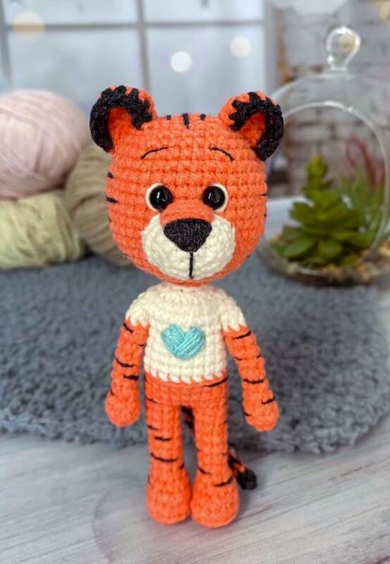 Little Tiger Amigurumi Crochet Pattern