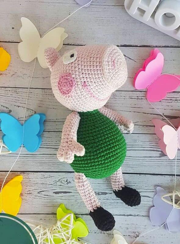 Peppa Pig Amigurumi Patrón Gratis en Español (1)