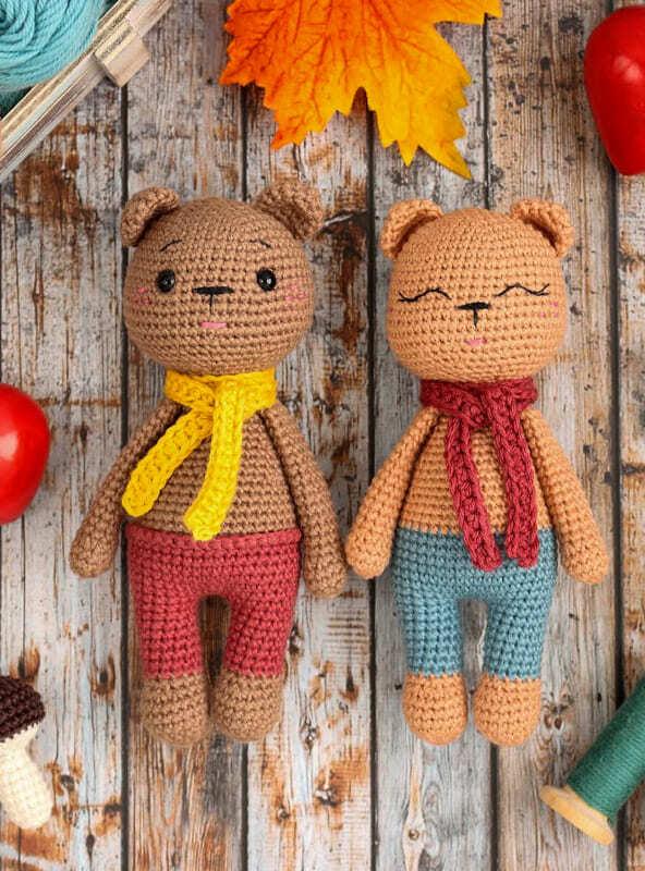Small Crochet Teddy Bear Amigurumi Free Pattern (2)