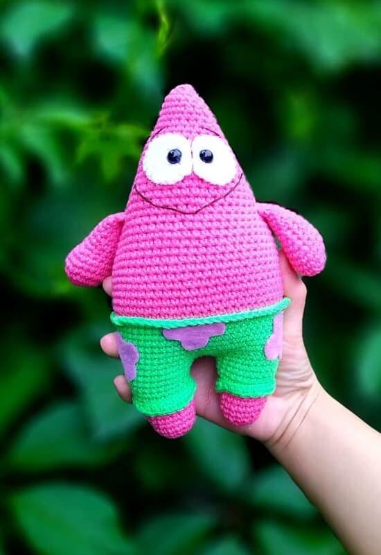 Spongebob Patrick Amigurumi Crochet Pattern (3)
