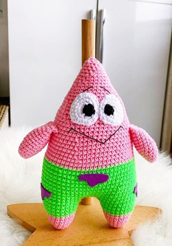 Spongebob Patrick Amigurumi Crochet Pattern (5)