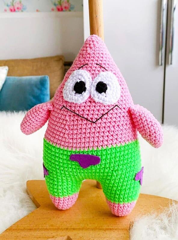 Spongebob Patrick Amigurumi Crochet Pattern (6)