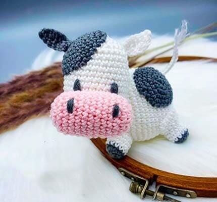 Little Crochet Cow Amigurumi Free Pattern