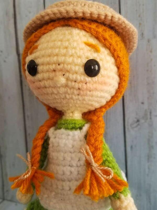 anne, shirley, amigurumi, crochet, pattern, doll, baby, cute, spring, gift, christmas, halloween, eyes, head