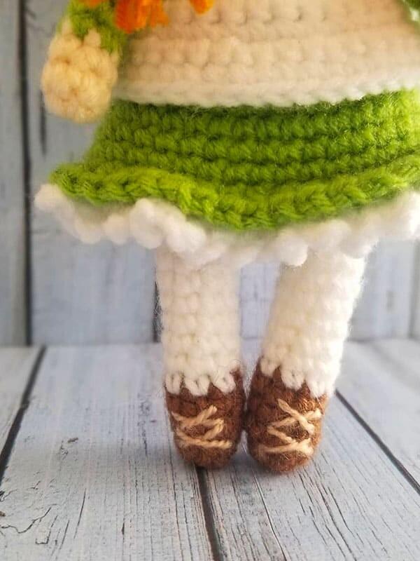 anne, shirley, amigurumi, crochet, pattern, doll, baby, cute, spring, gift, christmas, halloween, shoes, legs