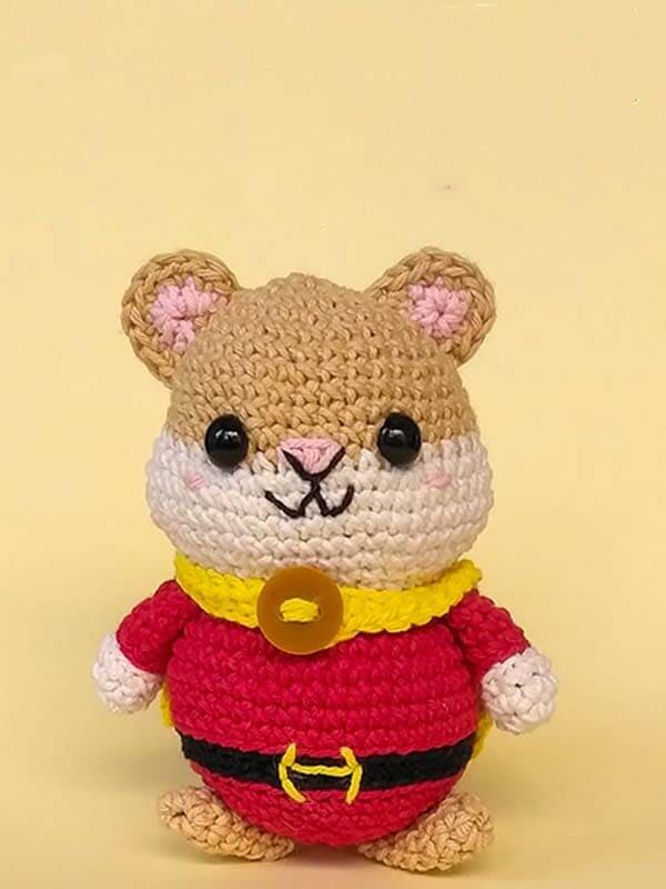 hugo, hamster, hero, amigurumi, crochet, pattern, cute, cartoon,gift, christmas, halloween, head, body