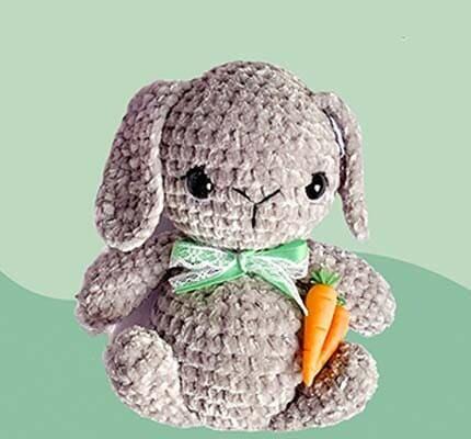 Lindo Bebé Conejo Amigurumi Patrón Gratis