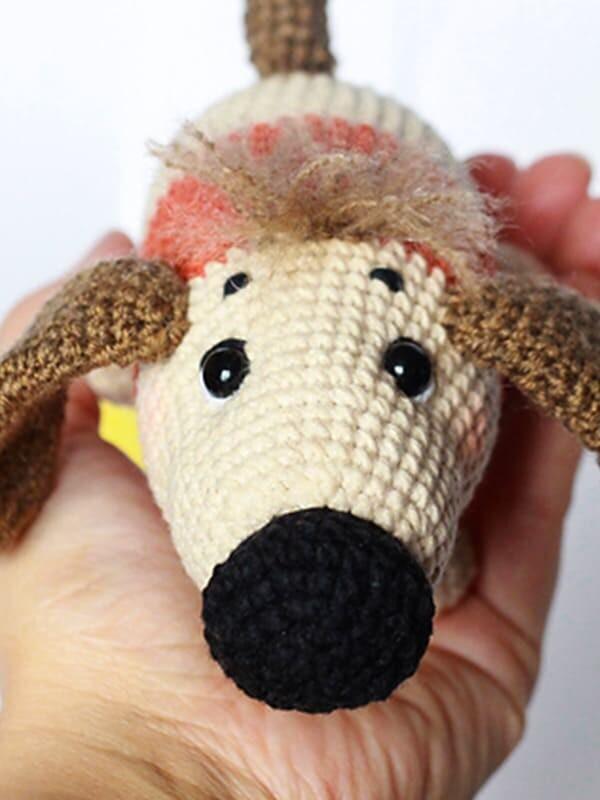 sirup, puppy, amigurumi, crochet, pattern, cute, gift, christmas, halloween, dog, dogs, animal, animals, ears