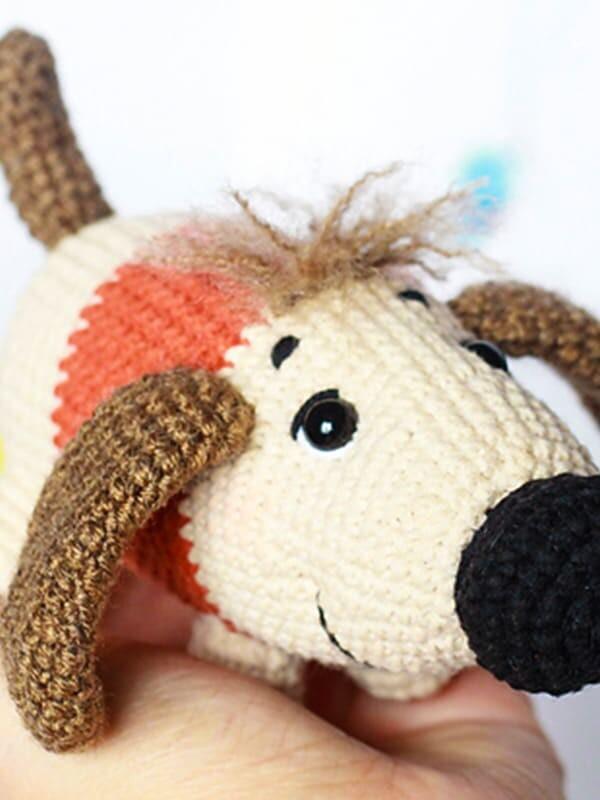 sirup, puppy, amigurumi, crochet, pattern, cute, gift, christmas, halloween, dog, dogs, animal, animals, eyes, eye