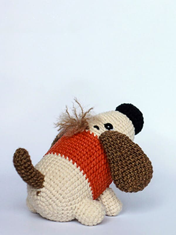 sirup, puppy, amigurumi, crochet, pattern, cute, gift, christmas, halloween, dog, dogs, animal, animals, tail, legs