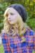Blonde women Crochet Slouchy Hat for Women and Kids PDF Pattern