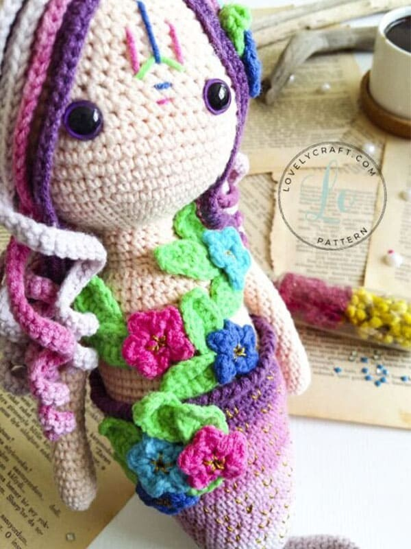 Calypso Mermaid Amigurumi Crochet Free Pattern (2)