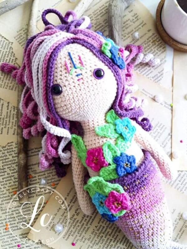 Calypso Mermaid Amigurumi Crochet Free Pattern (5)