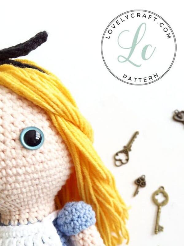 Crochet Alice in Wonderland Amigurumi Free Pattern (4)