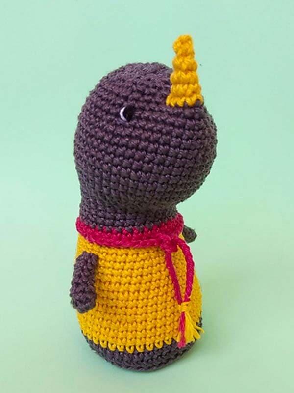 Crochet Baby Rhino PDF Amigurumi Free Pattern (2)