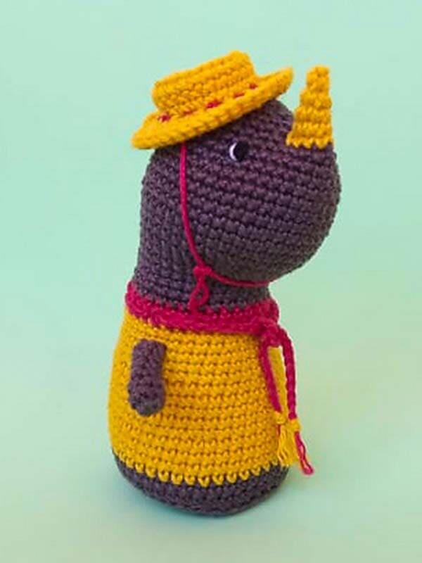 Crochet Baby Rhino PDF Amigurumi Free Pattern (3)