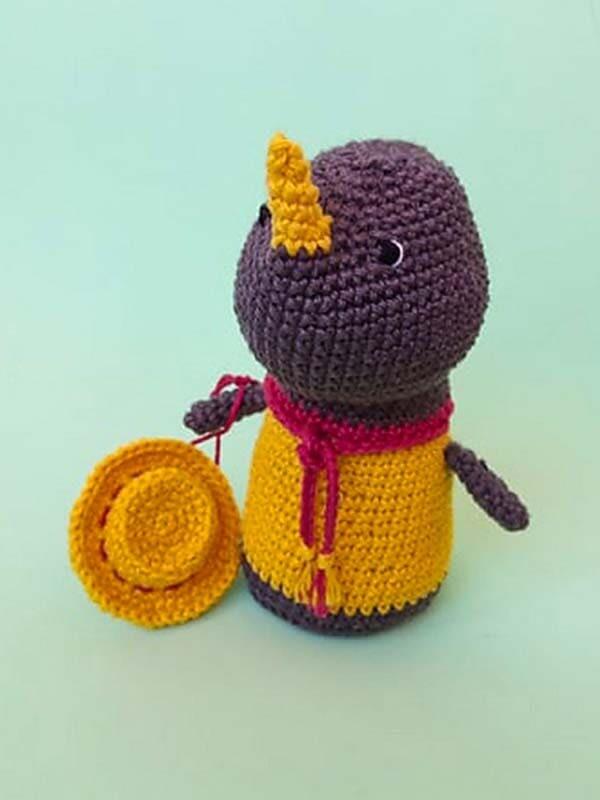 Crochet Baby Rhino PDF Amigurumi Free Pattern (4)