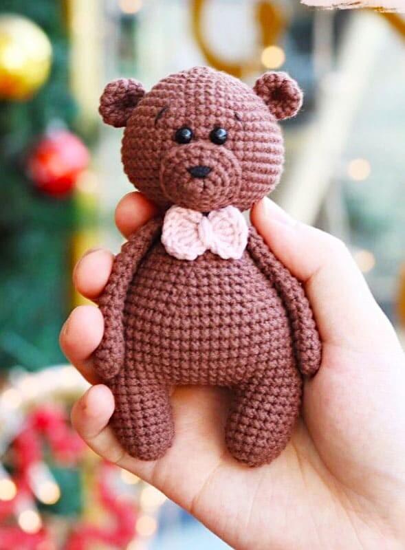 Crochet Brown Teddy Bear Amigurumi Free Pattern (3)