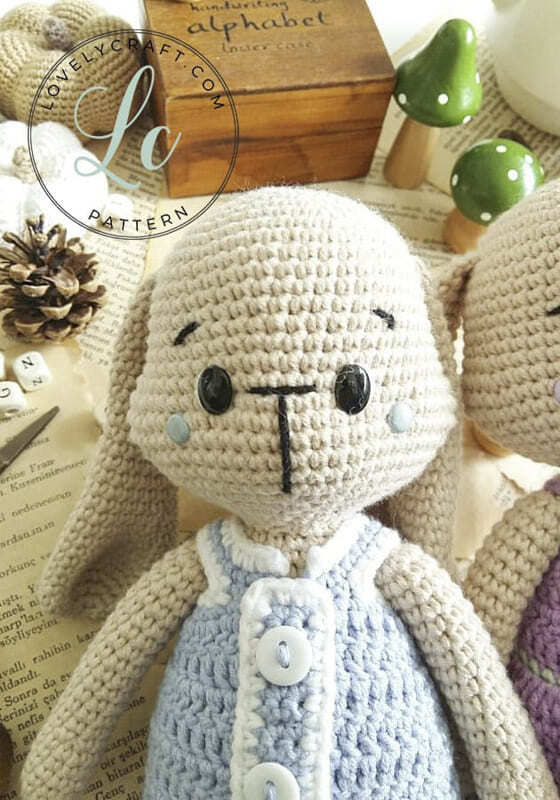 Crochet Bumble Bunny Amigurumi Free Pattern (2)