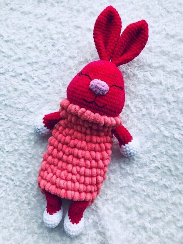 Crochet Bunny pajamas Amigurumi Free Pattern (2)
