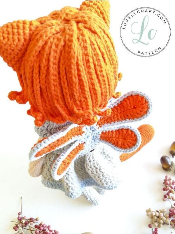 Crochet Cat Girl Doll Amigurumi Free Pattern (6)