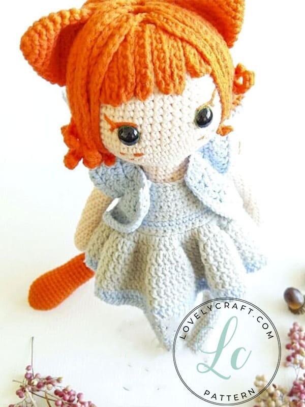 Crochet Cat Girl Doll Amigurumi Free Pattern