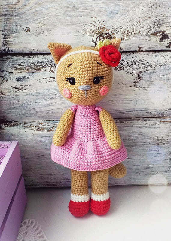 Crochet Cat Girl PDF Amigurumi Free Crochet Pattern (1)