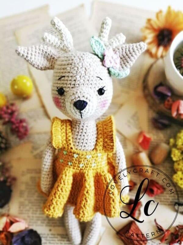 Crochet Deer Nenana Free Amigurumi Pattern (5)