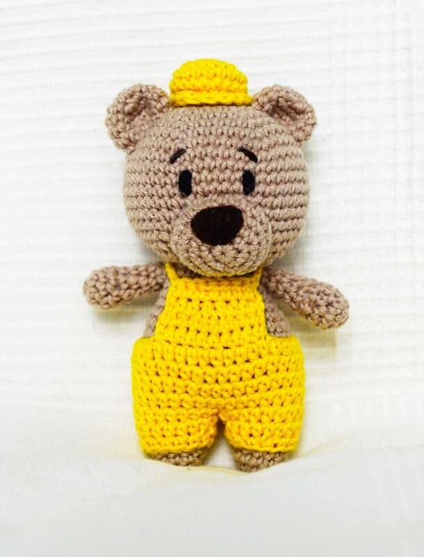 Crochet Easy Louie the Bear Amigurumi Free Pattern (1)
