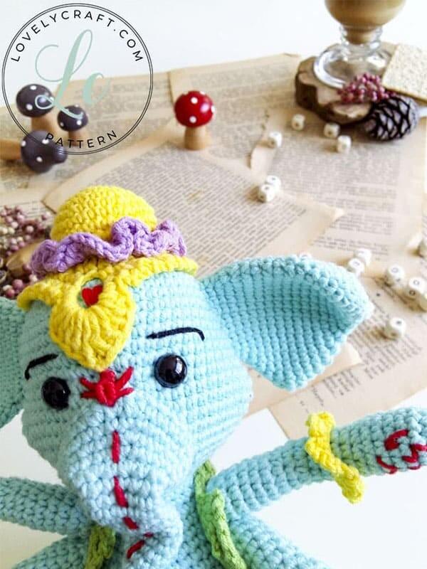 Crochet Elephant Ganesha Amigurumi Free Pattern (1)