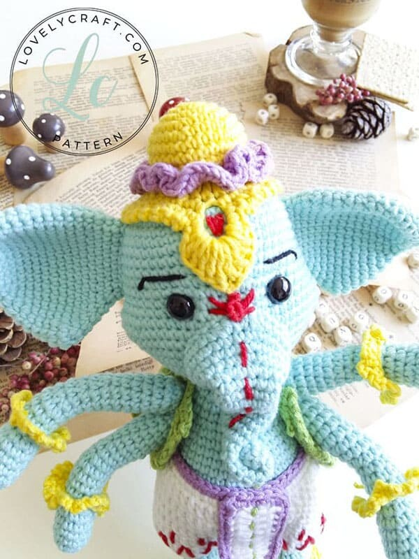 Crochet Elephant Ganesha Amigurumi Free Pattern (4)