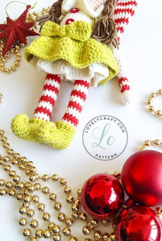 Crochet Elf Berry Christmas Doll Amigurumi Free Pattern (4)