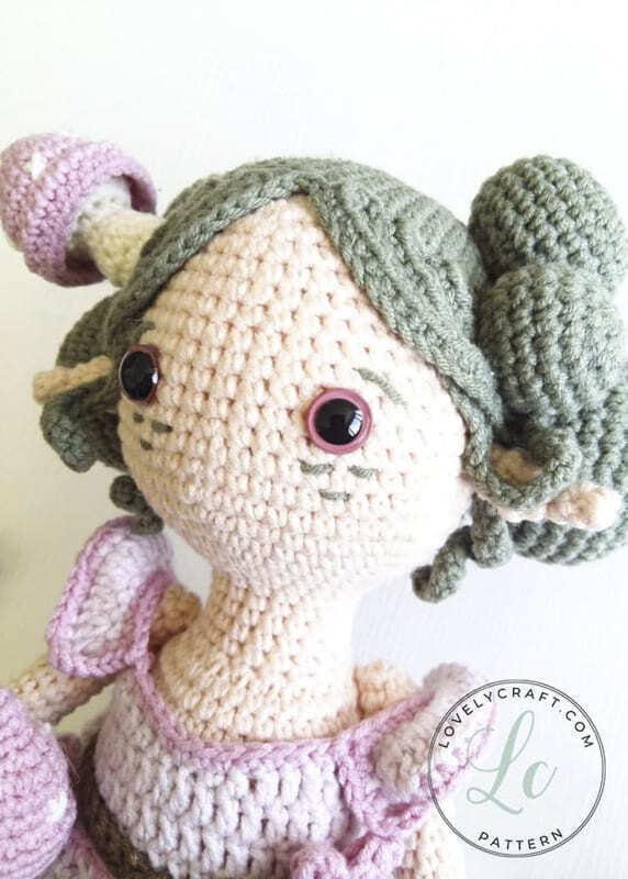 Crochet Forest Fairy Doll Amigurumi Free Pattern (2)