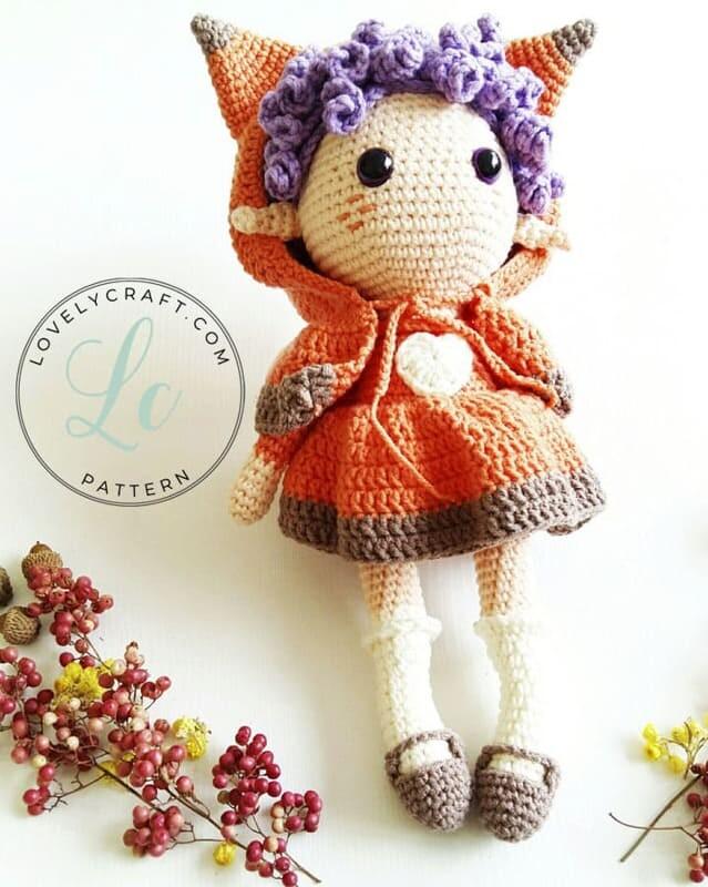 Crochet Fox Girl Doll Amigurumi Free Pattern (2)