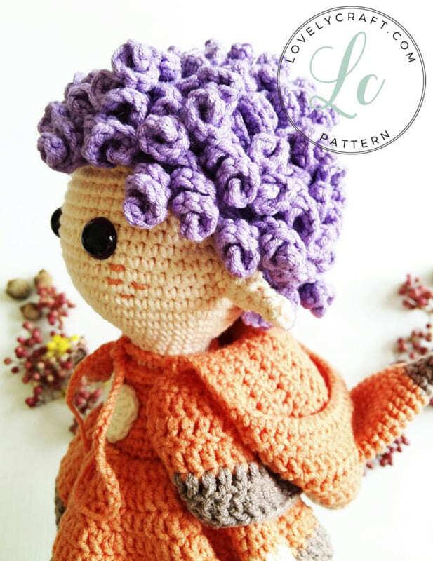 Crochet Fox Girl Doll Amigurumi Free Pattern (3)