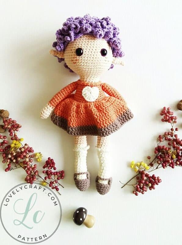 Crochet Fox Girl Doll Amigurumi Free Pattern (4)