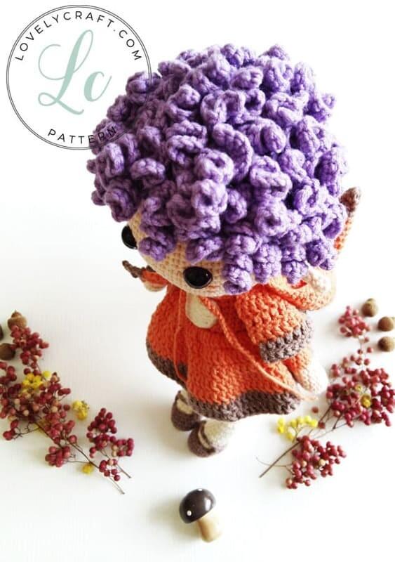 Crochet Fox Girl Doll Amigurumi Free Pattern (6)