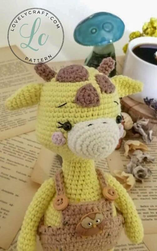 Crochet Giraffe Rufus Amigurumi Free Pattern hair