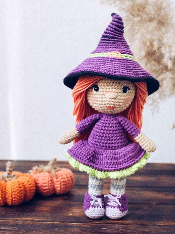 Crochet Halloween Witch Amigurumi Free Pattern (3)