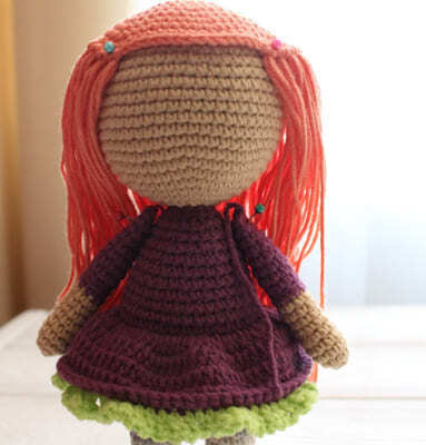 Crochet Halloween Witch Amigurumi Free Pattern after wig