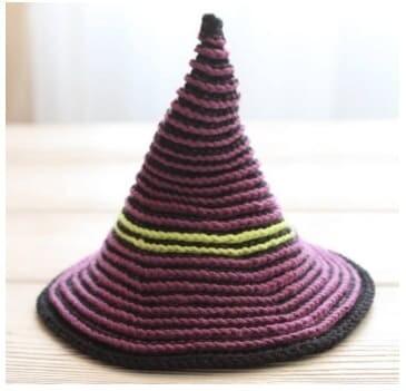 Crochet Halloween Witch Amigurumi Free Pattern hat