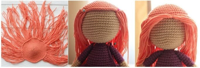 Crochet Halloween Witch Amigurumi Free Pattern wig