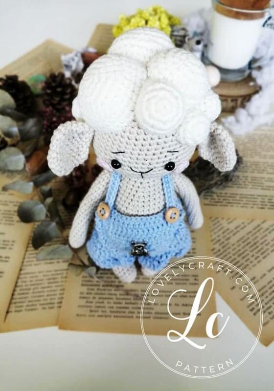 Crochet Lamb Muffin Amigurumi Free Pattern (5)