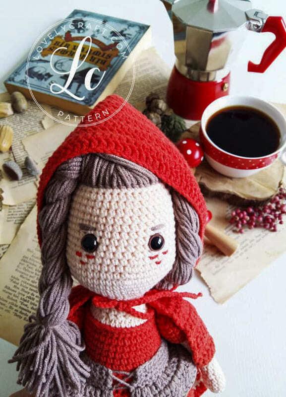 Crochet Little Red Riding Hood Amigurumi Free Pattern (3)